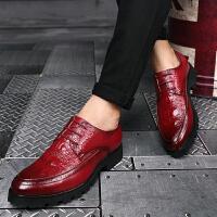 发型师皮鞋厚底增高男鞋英伦男韩版休闲鞋百搭青年尖头潮流男鞋子