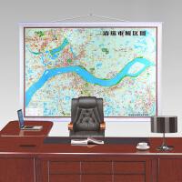 2018清远市城区图 约1.6米x1.1米 清远市中心城区地图挂图 商务办公室 高清