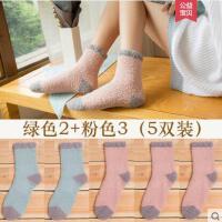 户外新品中筒袜子女加厚款韩国学院风睡眠袜地板袜