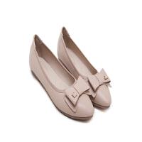 春夏季新款平跟鞋 简约立体蝴蝶结平底鞋 小蜜蜂软底女单鞋