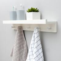 一字隔板搁板壁挂墙上实木挂钩家居置物架墙壁层板