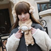 女孩儿童毛绒玩具创意可爱毛绒保暖围脖儿童礼物