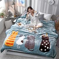 毛毯加厚双层冬季保暖单人双人学生宿舍珊瑚绒婚庆盖毯被子