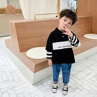 男童polo衫长袖春季洋气3岁宝宝t恤上衣春装儿童假两件