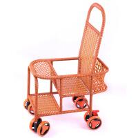 婴儿小推车藤编简易伞车坐式轻便儿童宝宝凉椅夏天