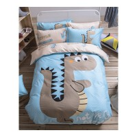 大学寝室三件套纯棉卡通床上四件套全棉学生宿舍单人0.9米上下铺