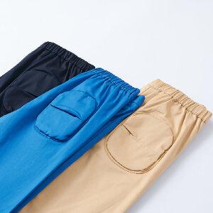 【尾品汇 5折直降】amii童装2017夏新款男童休闲裤拉链设计中大童弹力薄款休闲长裤