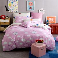 纯棉卡通床上用品四件套床笠全棉儿童1.5M/1.8米床单被套4件套
