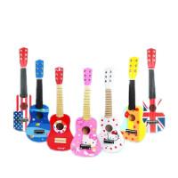 童无忌 木质儿童吉他玩具可弹奏初学小孩仿真吉他木制乐器玩具男女孩