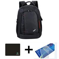 联想双肩电脑包笔记本拯救者包14/15寸15.6寸单肩手提包笔记本电脑包 【配鼠标垫+键盘膜】