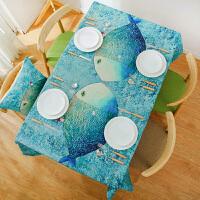 北欧卡通餐桌布棉麻布艺宿舍书桌儿童小圆桌茶几布台布长方形桌布