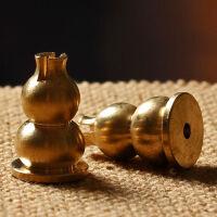 木石有约 铜葫芦香插香座 铜香炉香拖盘香线香檀香香架 佛教用品七夕 抖音