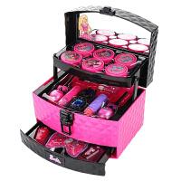 儿童化妆品公主彩妆盒女孩化妆盒芭巴比娃娃宝宝玩具套装箱