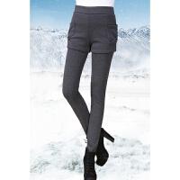 冬季外穿纯棉保暖裤子加绒加厚打底裤女短裤秋冬款假两件高腰女裤