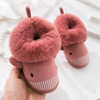 冬季儿童棉拖鞋男女可爱防滑冬天宝宝保暖小孩小童包跟童鞋123岁