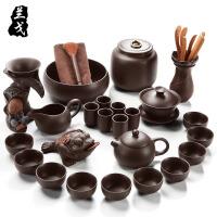 整套宜兴紫砂功夫茶具套装 原矿紫泥西施壶礼品陶瓷茶道茶壶
