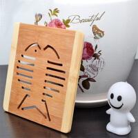 楠竹餐具隔热垫 方形镂空 餐桌垫 款式颜色随机