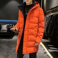 棉衣男士冬季外套2019新款韩版加厚保暖连帽棉袄中长款羽绒棉服潮
