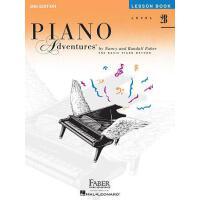 预售 英文原版 菲伯尔钢琴乐谱 2B级课程 Piano Adventures: Level 2B: Lesson Boo