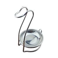不锈钢火锅汤壳架漏勺架子厨房酒店汤勺置物架天鹅形汤勺置物托架