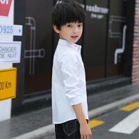 儿童白衬衫绒款长袖衬衣韩版2018休闲厚款男孩上衣冬
