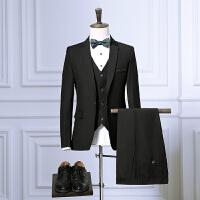 西服套装男韩版西服新郎修身小西服时尚西服套装小西装帅气格子潮