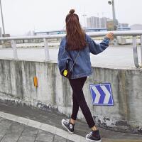 [2.5折价104元】唐狮牛仔外套女春秋短外套韩版学生宽松bf风牛仔衣学院风复古外套