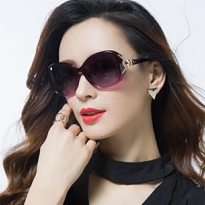 新款偏光太阳镜圆脸墨镜女潮明星款防紫外线眼镜长脸沙滩