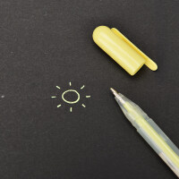 20180928204228786 diy相册笔相簿配件材料手工黑卡影集本制作水粉笔荧光笔 抖音