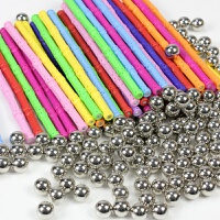 磁力棒散装智力运动会3-4-5岁男孩儿童益智玩具磁性拼装拼插积木 套餐五 700棒 +350球