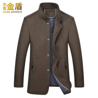 毛呢大衣男中长款韩版尼子中年男装英伦妮子秋季羊毛男士呢子外套