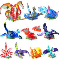 灵动创想爆兽猎人儿童玩具 三首蛟龙铠甲飞龙赤铁狮王