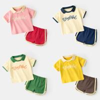 婴儿短袖套装夏季宝宝T恤短裤两件套儿童上衣女