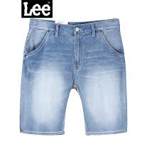 Lee春夏新款男式牛仔短裤 晶玉透凉牛仔短裤L15239AL21FR
