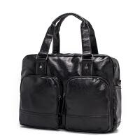 新款男士横款手提包 韩版时尚斜挎包 休闲商务单肩包旅行包男包包