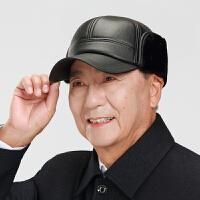 帽子男士中老年人户外秋冬天老人仿真皮保暖护耳男帽冬季加厚棉帽