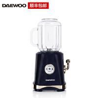 大宇(DAEWOO)榨汁机L01便携式果汁杯家用迷你果汁机复古原汁机奶昔破壁机果汁杯榨汁杯 复古蓝色 L01-LAN