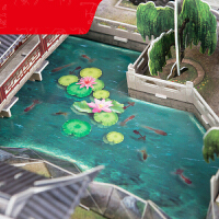 【支持礼品卡】3D建筑立体拼图玩具 苏州园林立体模型拼插拼装创意DIY礼物u5q