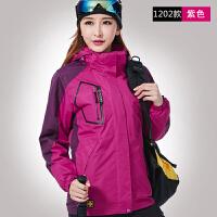 20180322045756205 秋冬潮户外冲锋衣男女可拆卸两件套三合一加厚加绒大码登山服西藏