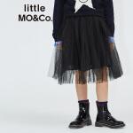 littlemoco女童装公主网纱全棉内衬蓬蓬半身裙中童女KA1641SKT04