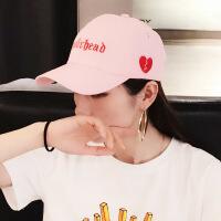 2018春夏新款帽子女士韩版休闲棒球帽情侣 英伦遮阳帽鸭舌帽潮 可调节