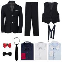 男童礼服男童西装 儿童西装小花童礼服男黑色儿童礼服男套装三件套