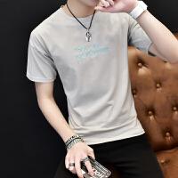 韩观2018夏季新款男士短袖t恤韩版潮流V领半袖青少年修身个性男装衣服