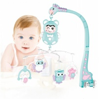 3-12个月婴儿宝宝旋转床挂摇铃音乐床铃故事音乐灯光有声益智玩具 猫头鹰床铃