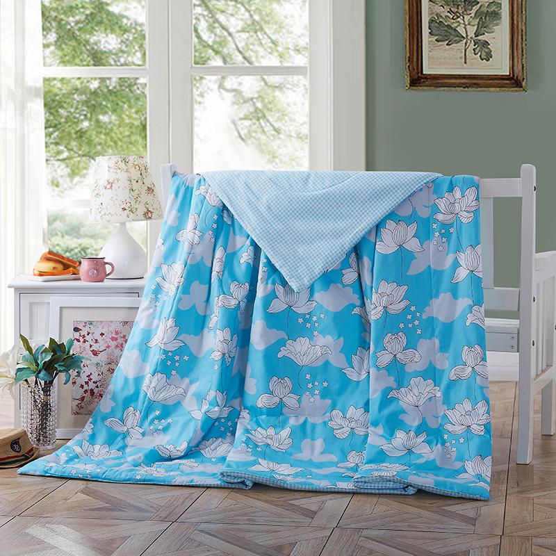 当当优品空调被 全棉印花水洗夏凉被双人午睡被200*230cm当当自营 纯棉面料 环保印染0刺激 可水洗不变形