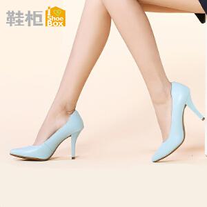 达芙妮旗下鞋柜OL职业高跟女鞋子 气质尖头工作鞋高跟单鞋