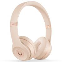 Beats Solo3 Wireless 头戴式 蓝牙无线耳机 手机耳机 游戏耳机 - 哑光金色 MR3Y2PA/A