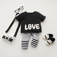 婴儿童内衣套装纯棉男女8宝宝5春秋衣服9短袖潮款套装外出服夏季