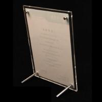 A4亚克力证书相框水晶台牌广告摆台A4授权牌透明照片框婚纱照