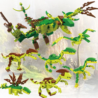 男孩儿童玩具恐龙积木玩具拼装